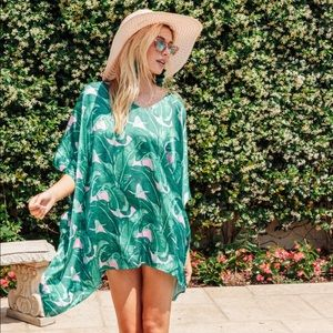 Judith March Banana Leaf V Neck Tunic